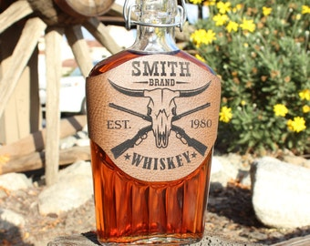 Mens Flask, Groomsmen Flask, Groomsmen Gift, Engraved Flask, Compass, Pistons, Mustache, Texas Longhorn, Rifles, Skull, Wedding Flasks