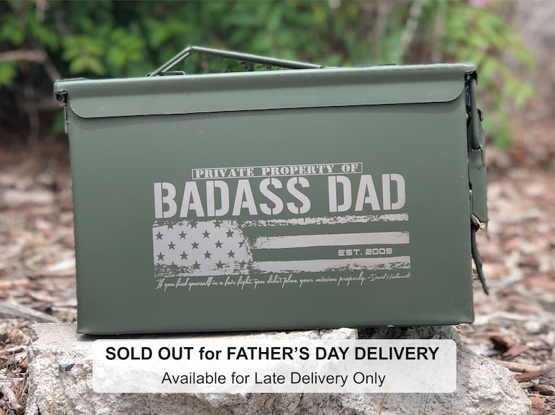 542333c3 Outdoor Gifts Father's Day Ammo Box Personalized Dad | Etsy