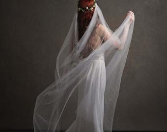 Add a veil to any crown - bridal veil, wedding veil, cathedral length veil, veil comb, wedding headpiece, vintage veil, boho rustic wedding
