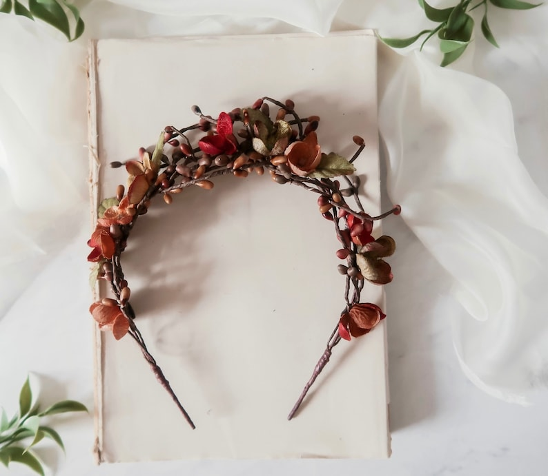 Rustic fall twig crown woodland branch headband boho hair image 0
