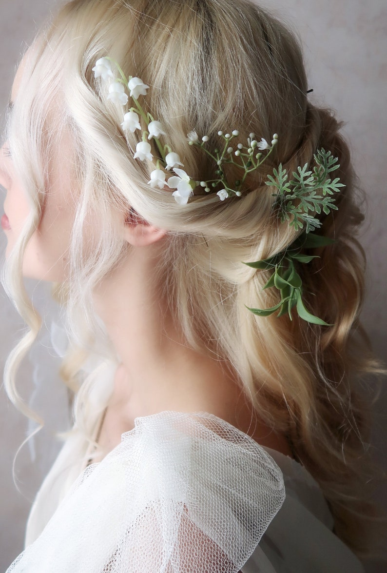 Ophelia  eucalyptus hair pins greenery foliage clips flower image 0