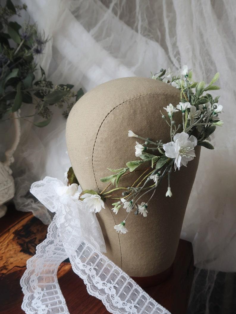 Poet  delicate wildflower crown eucalyptus wedding image 0