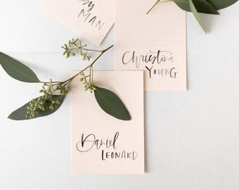 Hand Lettered Place Cards, set of 50 pcs