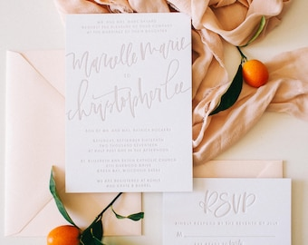 The Marcelle - Taupe Letterpress Suite Sample Pack