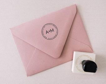 Custom Address Stamp - Circle