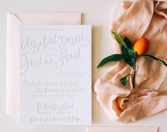 The Lizzie - Taupe Letterpress Suite Sample Pack