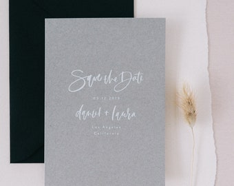 The Laura - Neutral Save the Date Sample Pack