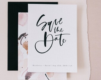 The Nicolette - Minimal Save the Date Sample Pack