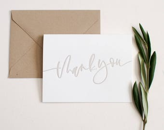 Letterpress Thank You Card + Envelope