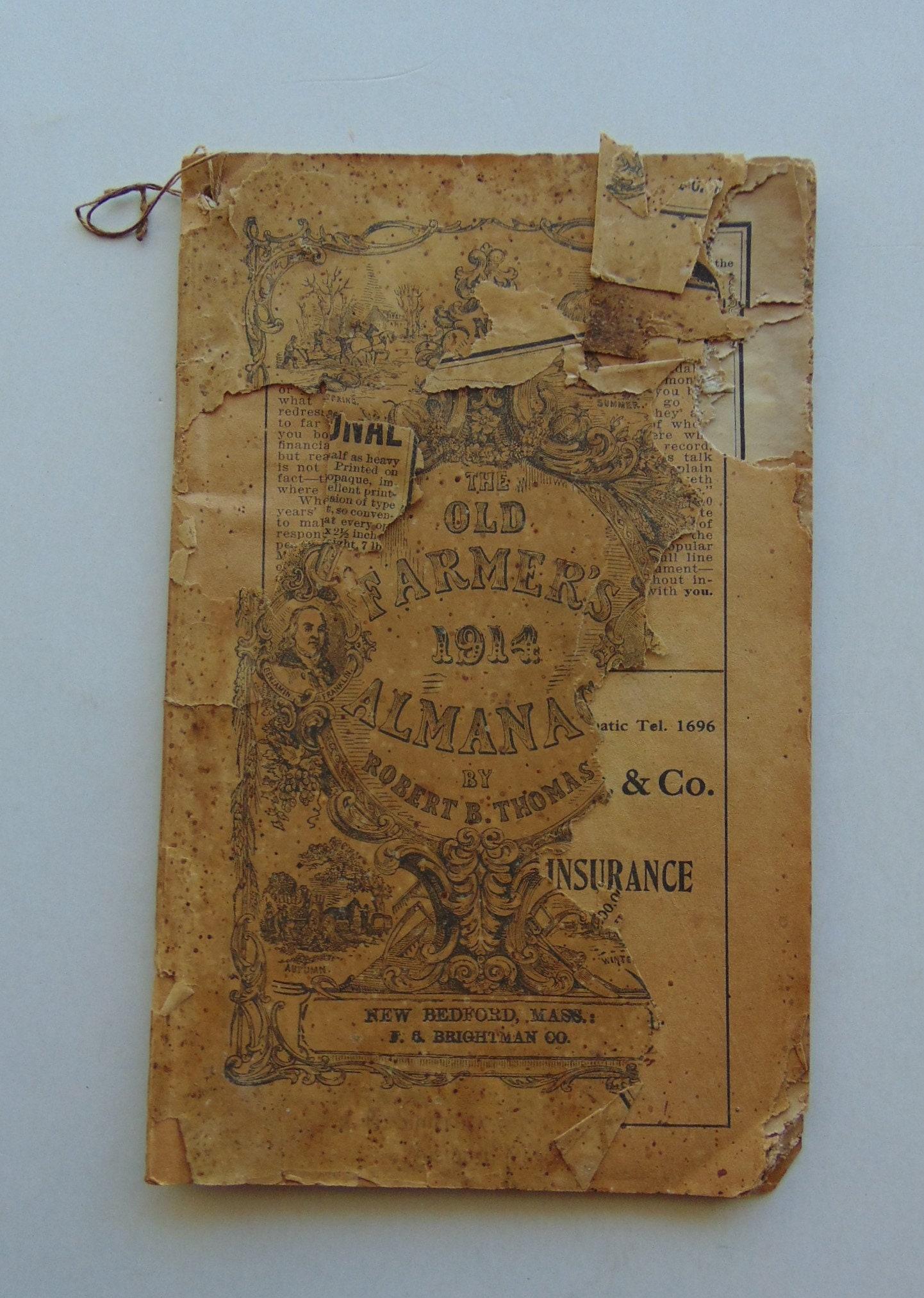 1914 Old Farmer\'s Almanac   Etsy