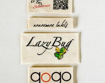 Natural Fabric Labels - custom clothing tags (sewing and knitting tags), bulk options