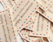 Personalized Labels for Hand Made Items, Cotton Tags for Blankets, Quilts, Pillows, Knitting, Sewing, and Crochet (sew on or iron on)