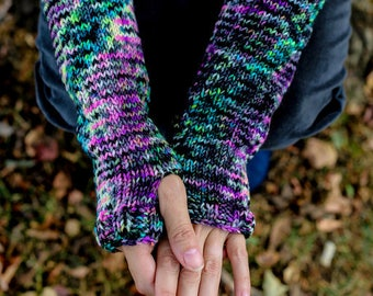 Women's Knit Fingerless Gloves, Arm Warmers Gift for her