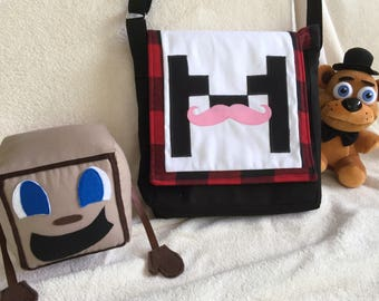 Markiplier inspired Messenger bag! Adjustable strap, Markiplier Youtuber. Made to Order