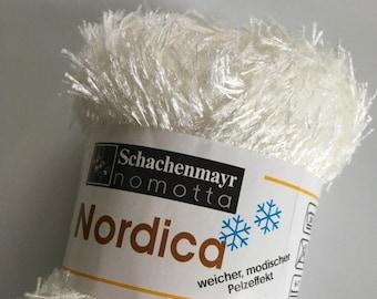 Schachenmayr nomotta Nordica #02 White Short Eyelash Yarn Faux Fur 50gr 54yds