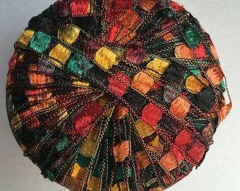 Berlini Ladder Ribbon Maxi Yarn #40 Autumn Leaves 50gr 98yds Greens Reds Copper