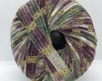 Berlini Ladder Ribbon Maxi Yarn #161 Purple Royale 50gr 98yds