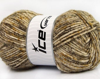 Gray Mohair Boucle Worsted Yarn #55224 Ice Acrylic Wool Mohair Nylon Yarn 50 Gram 98 Yards