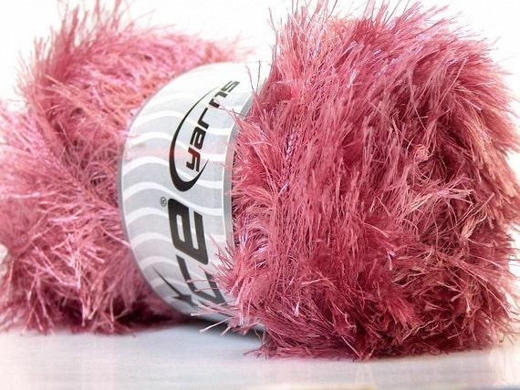 LG 100 gram Light Salmon Pink Eyelash Yarn Ice Fun Fur 164 Yards 22713