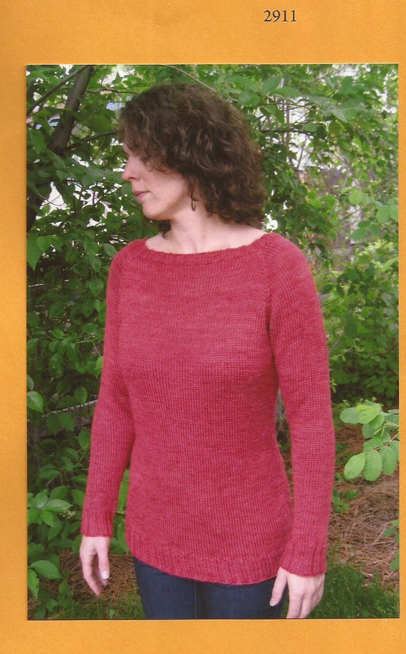 Knitting Pure Simple Knitting Pattern 2911 Neck Down Boat Etsy