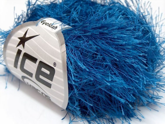 Black Beauty Eyelash Yarn Ice Solid Black Fun Fur 50gr 22743