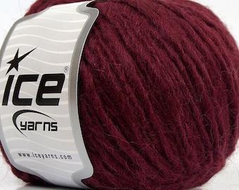 Etno Alpaca  #69358 Burgundy - Ice Merino Wool Alpaca Acrylic Blend Yarn 50 Gram 82 yards Weight Group: #5 Bulky
