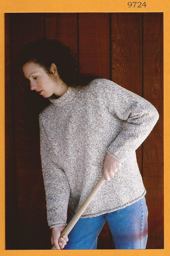 4cd7164d0cc78 Knitting Pure   Simple Knitting Pattern 9724 Neck Down