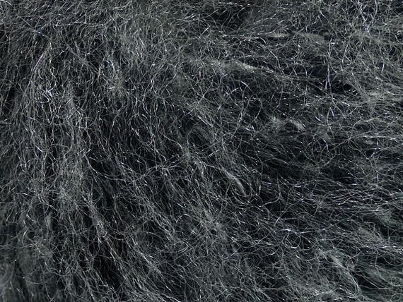 Foggy Night Sparkly Grey Black Fuzzy Blend Yarn Ice 38236 50gr 110 yds