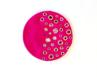 Lolita Pink Grommet Beret