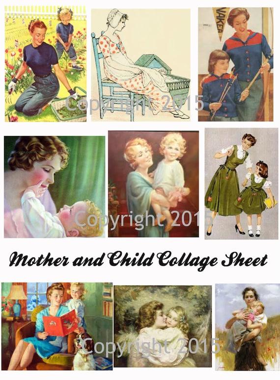 Vintage Women Photo Collage #104 Collage Sheet
