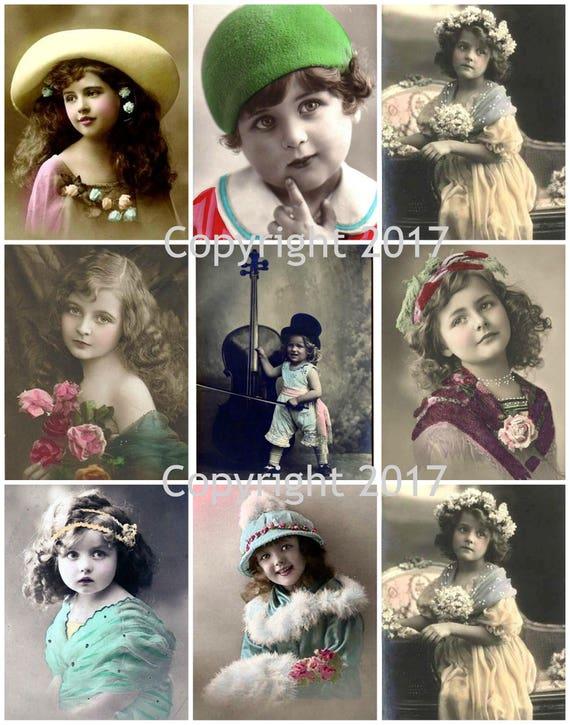 Victorian Children Photo Collage #106 Collage Sheet