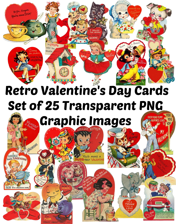 f0766067dcea 25 Vintage Retro Valentine s Day Card Images Clip Art