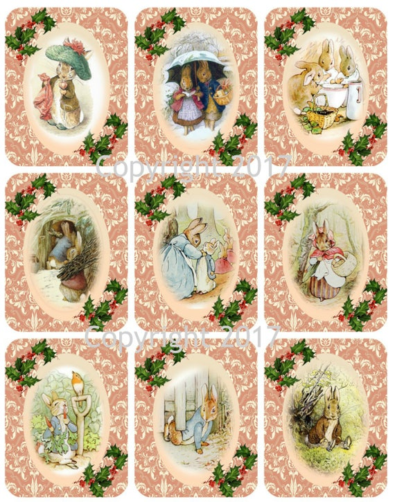 Digital Download Collage Sheet for Gift Tags and Scrapbooking