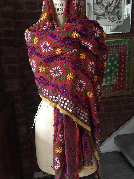 Phulkari Dupatta Embroidered Shawl