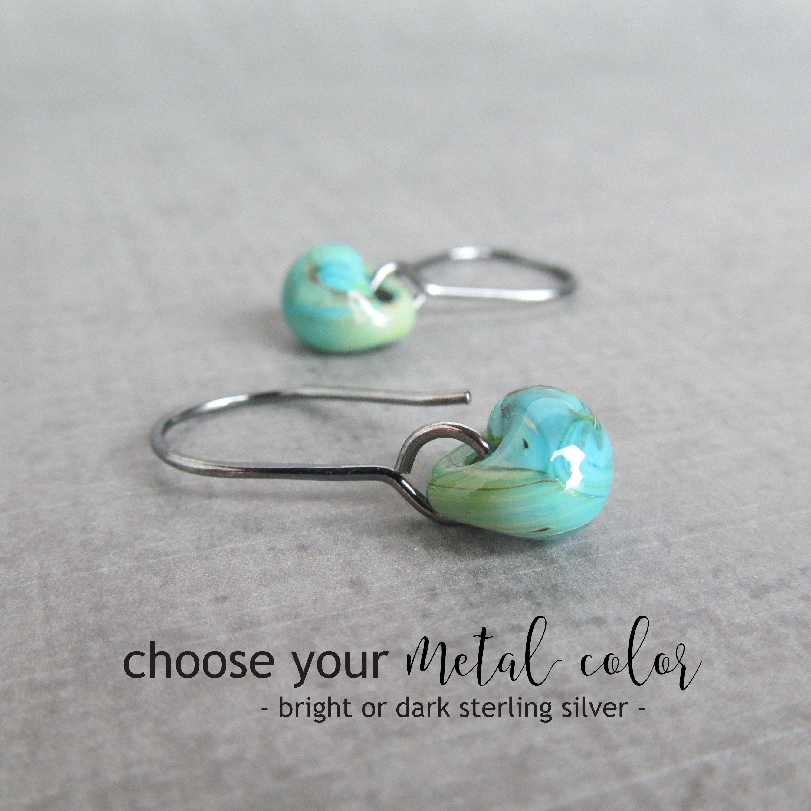 Long Wire Earrings Carnation Pink Dangles Sterling Silver or Niobium Ear Wires wearever Earrings Lampwork Glass Drop Jewelry