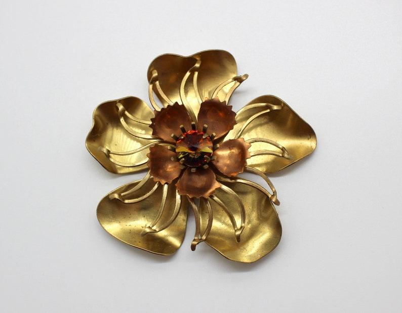 Stackable Brass Flower Findings WVintage Preciosa Rivoli Destash Lot