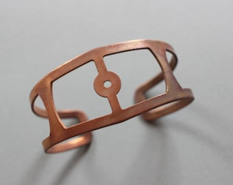 Vintage Copper Plated Industrial Cuff Bracelet Blank