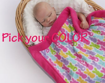 Peep Easter blanket baby security blanket peep security blanket peep baby easter baby blanket lovie lovey