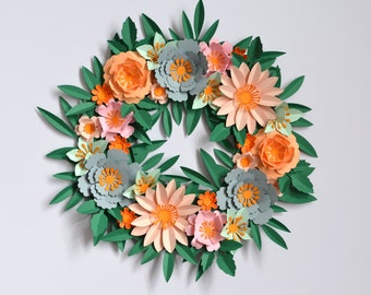 DIY paper flower mini wreath kit