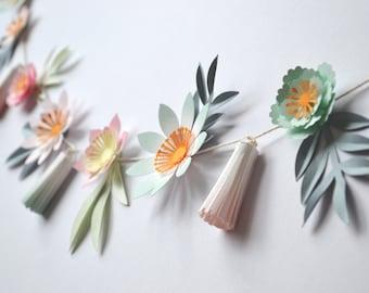 DIY floral tassel garland craft kit
