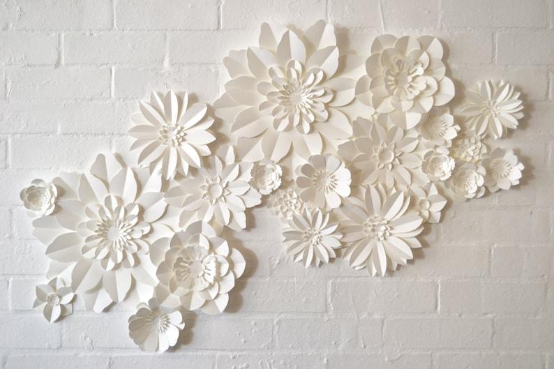 Set Of 22 Handmade Paper Flowers image 0