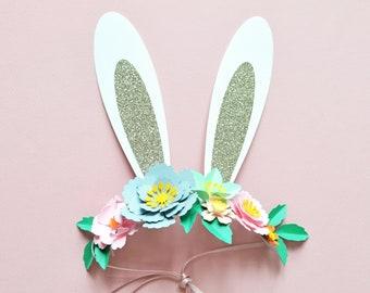 DIY Easter Bunny Floral Crown Craft Kit