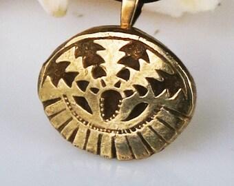 Southwest Petite Bronze Pendant - Unique Shaman Spirit Handmade Bronze Gift - Native American Inspired  Shaman Bronze Pendant Gift