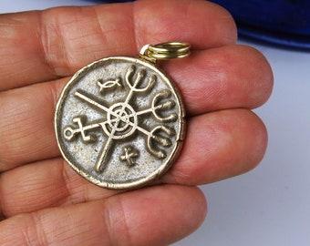 Pombe Gira Symbol Bronze Pendant