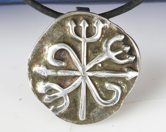Pomba Gira Fine Silver Pendant