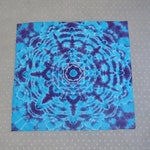 Mandala Tie Dye Bandana - Turquoise and Purple Mini Tapestry - Festival Hippy Wears