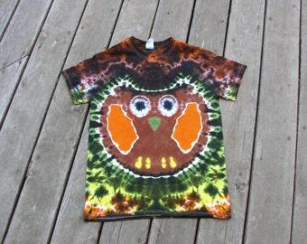 Brown Owl Tye Dye (Small) Adult Tie Dye Shirt OOAK