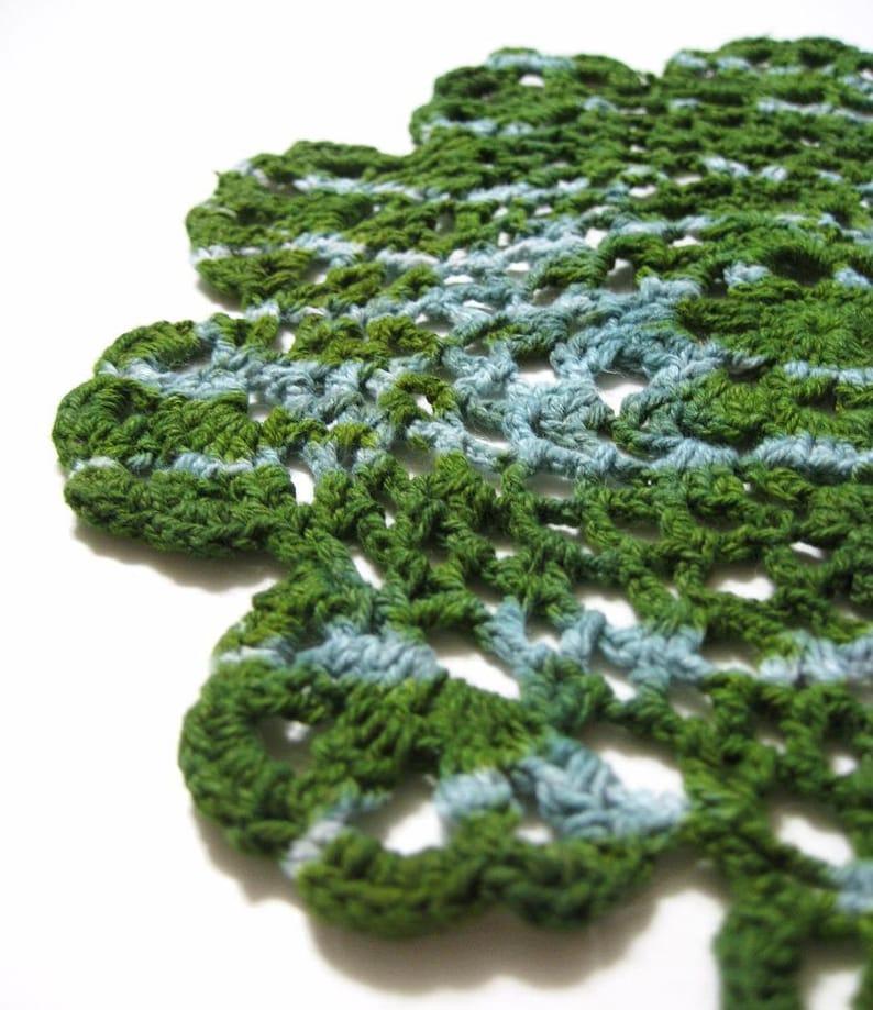 Avocado Doily  Tie Dye Crochet Gift image 0