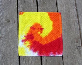Fire Swirl Tye Dye Wash Rag (One) Washcloth