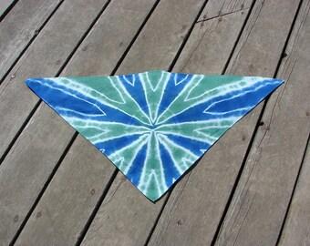 Tie Dye Pet Scarf - Sea Glass & Blue Shocker
